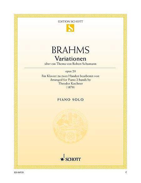 Variations on a theme by Robert Schumann op. 23