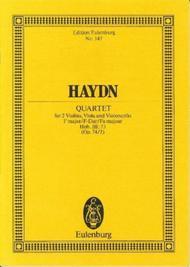String Quartet F major op. 74/2 Hob. III: 73