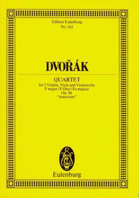 String Quartet F major op. 96 B 179