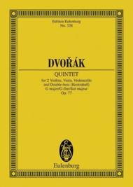 String Quintet G major op. 77 B 49