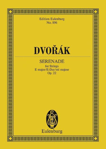 Serenade E major op. 22 B 52