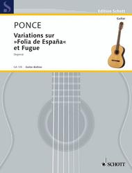 Variations sur Folia de Espana et Fugue