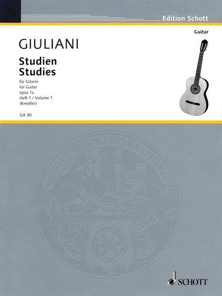 Studies for Guitar, Op. 1a - Volume 1
