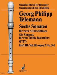 6 Sonatas op. 2 Vol. 2