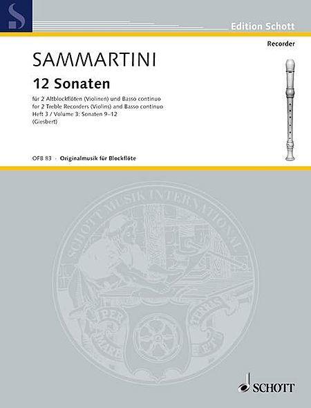 12 Sonatas, Volume 3