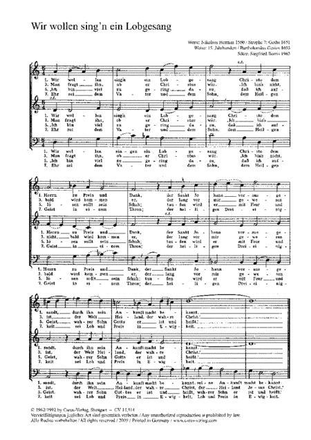 Borris: Wir wollen sing'n ein Lobgesang; Fiebig: Herr Gott, dich loben alle wir