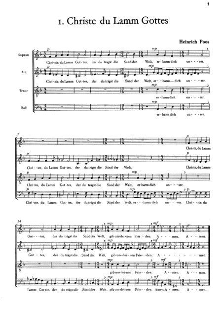 Benedicamus (Chorsatze zur Liturgie), Heft 1