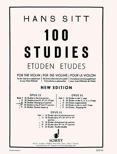 100 Studies op. 32 Heft 3