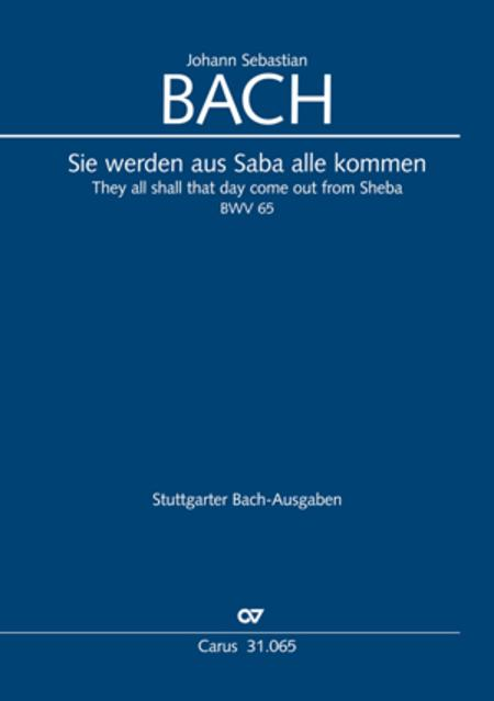 They all shall day come out from Sheba (Sie werden aus Saba alle kommen)