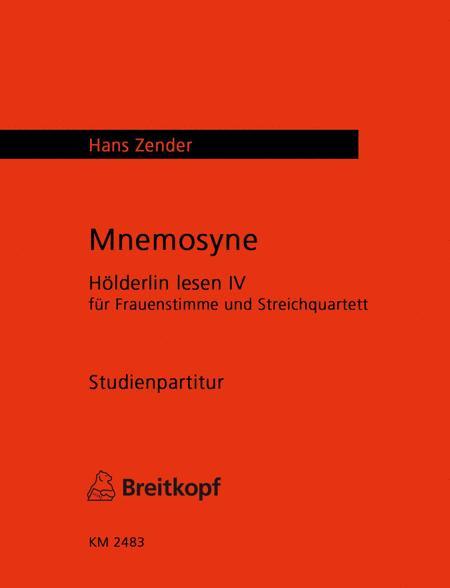 Mnemosyne - Holderlin lesen IV