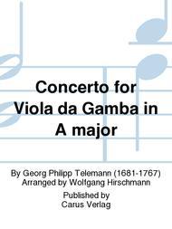 Concerto for Viola da Gamba in A major (Konzert in A fur Viola da Gambe)
