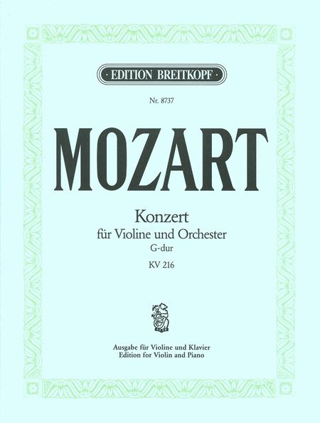 Violin Concerto [No. 3] in G major K. 216