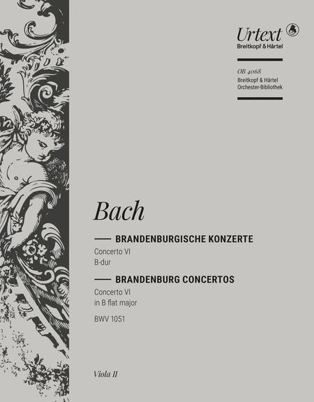 Brandenburgisches Konzert 6 B BWV1051