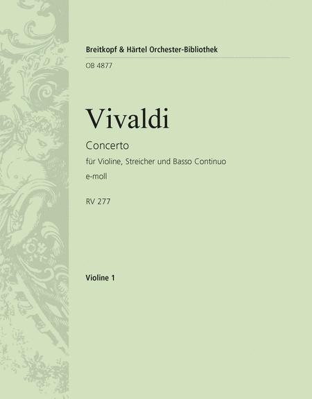Concerto in E minor RV 275