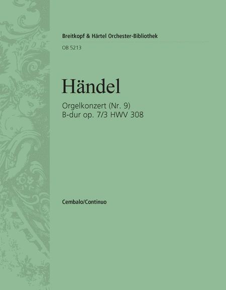 Organ Concerto (No. 9) in Bb major Op. 7/3 HWV 308