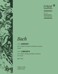Violin Concerto in D minor BWV 1043