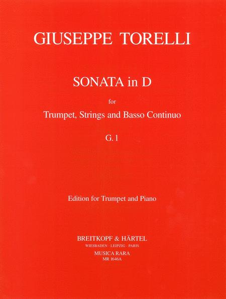 Giuseppe score trumpet in D strings and basso c Concerto D major G 9 Torelli