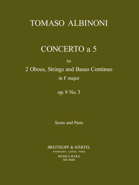 Concerto a 5 in F op. 9/3