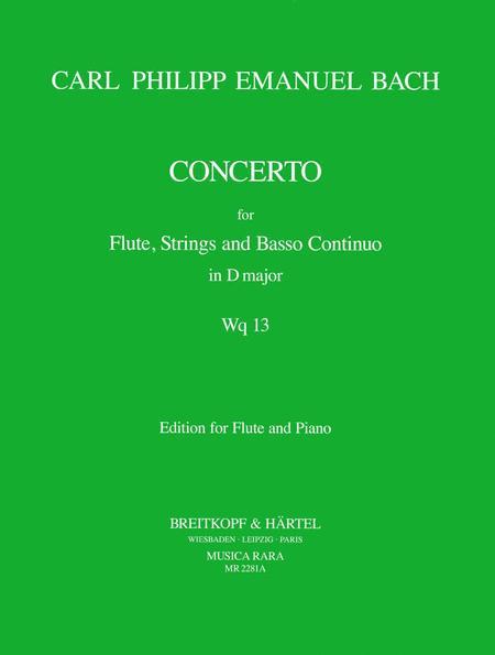 Flute concerto in D major Wq 13