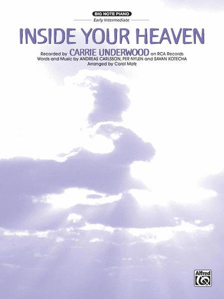 Inside Your Heaven - Big Note Piano