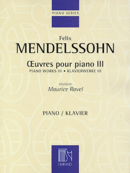 Oeuvres Pour Piano - Vol. 3 Revision Maurice Ravel