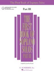 The First Book of Soprano Solos - Part III