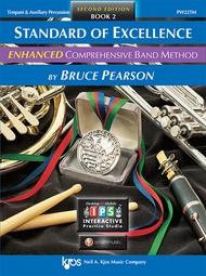 pw22tm standard of excellence enhanced book 2 timpani auxiliary percussion