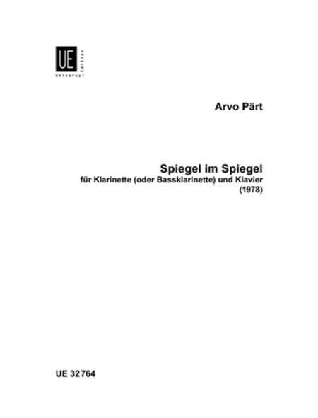 Spiegel im Spiegel Paert Arvo for clarinet and piano 9790008075582