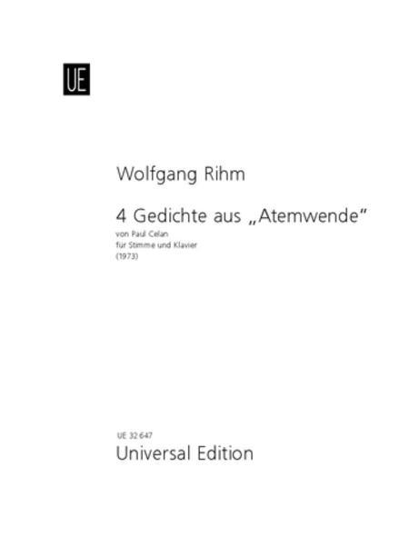 4 Gedichte Aus Atemwende-Voc/P