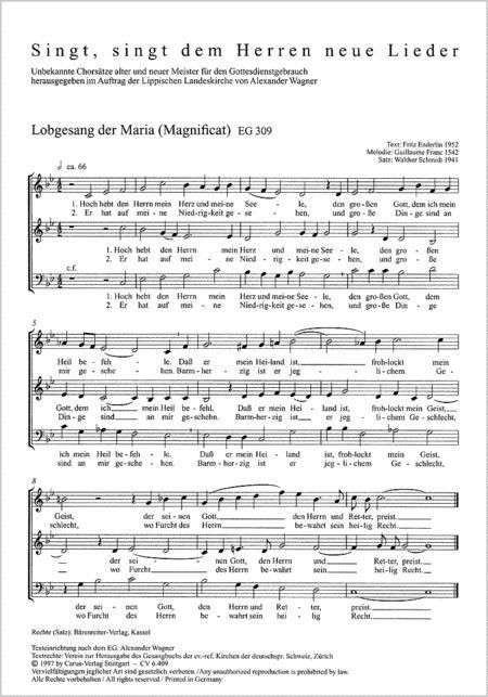 Jambe de Fer; Jeune: Lobgesang der Maria (Magnificat)