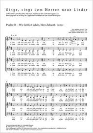 Psalm 84: Wie lieblich schon, Herr Zebaoth