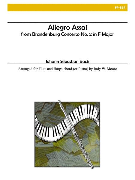 Allegro Assai from Brandenburg Concerto No. 2 for Flute and Piano