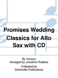 Promises Wedding Classics for Alto Sax with CD