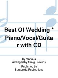 Best Of Wedding * Piano/Vocal/Guitar with CD