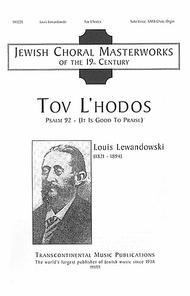 Tov L'hodos (It Is Good to Give Thanks)