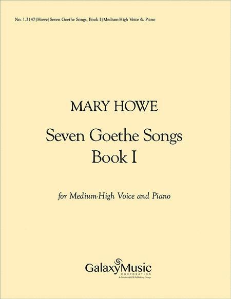 Seven Goethe Songs, Book I