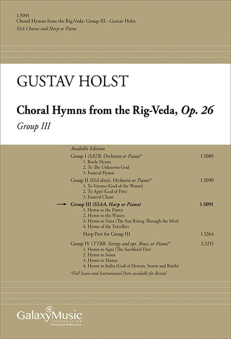 Choral Hymns from the Rig-Veda, Group 3