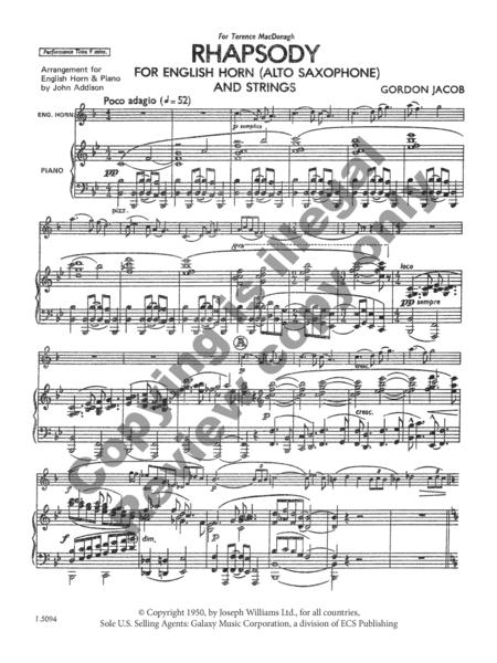 Preview rhapsody for english horn strings piano score by gordon rhapsody for english horn strings piano score ccuart Choice Image