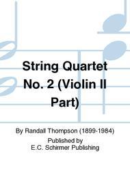 String Quartet No. 2 (Violin II Part)