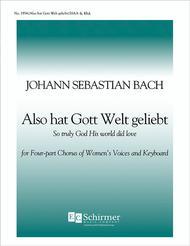 Cantata 68: Also hat Gott die Welt geliebt (So Truly His world did love)