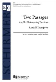 Two Passages from The Testament of Freedom