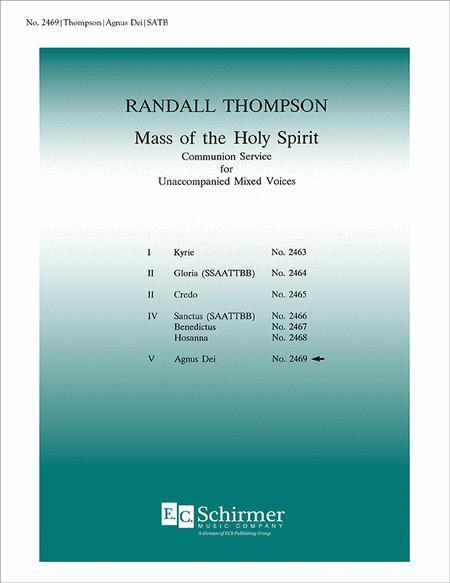 Mass of the Holy Spirit: No. 7. Agnus Dei