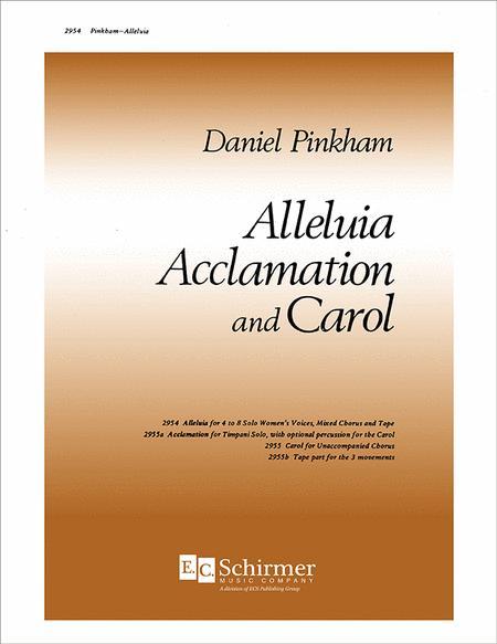Alleluia, Acclamation and Carol: I. Alleluia