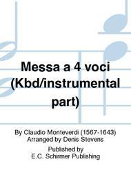 Messa a 4 voci (Keyboard/Instrumental Part)