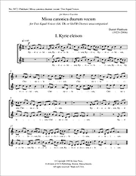Missa canonica duarum vocum