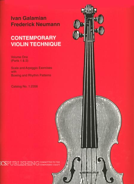 Contemporary Violin Technique, Volume 1 Sheet Music By Ivan Galamian