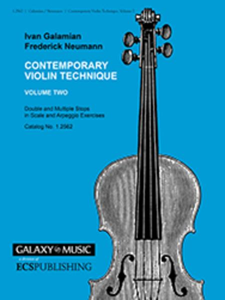 Contemporary Violin Technique, Volume 2
