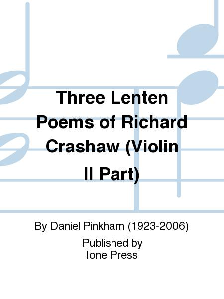 Three Lenten Poems of Richard Crashaw (Violin II Part)