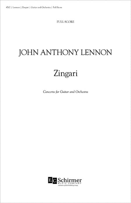 Zingari, Concerto for Guitar and Orchestra (Full Score)