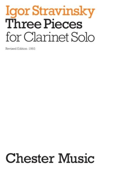 3 Pieces for Clarinet Solo